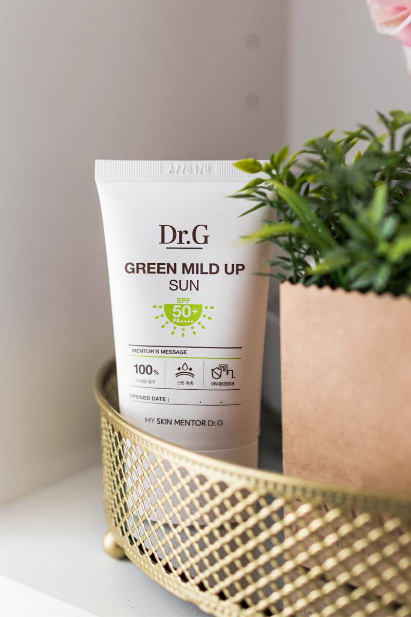 pielęgnacja cery mieszanej jaki krem z filtrem wybrać dr. G Green Mild Up Sun SPF50
