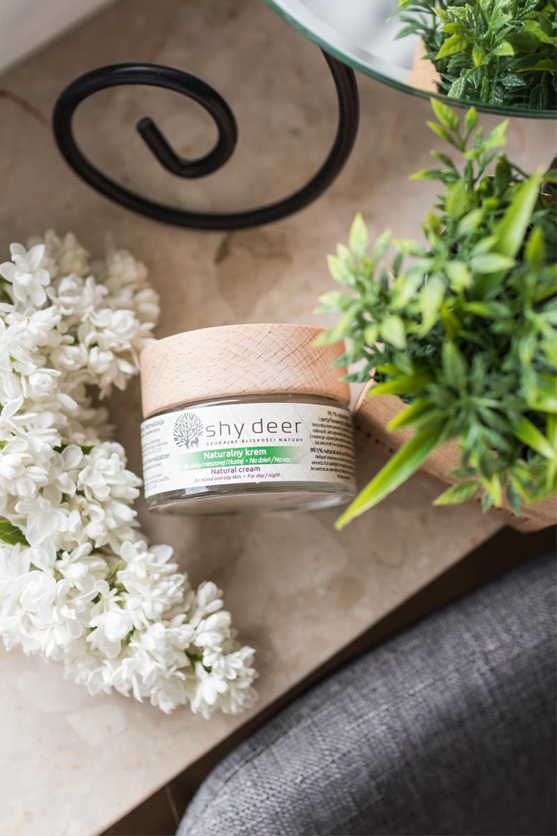 pielęgnacja cery mieszanej Shy Deer naturalny krem do skóry mieszanej i tłustej agu blog ekobieca